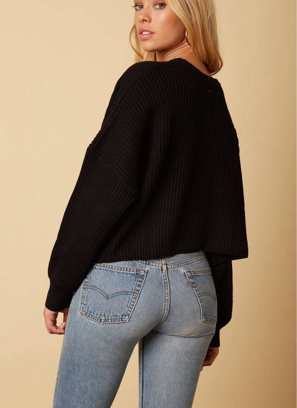 Hot Toddy Sweater Black