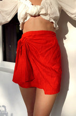 SIA RED WRAP SKIRT