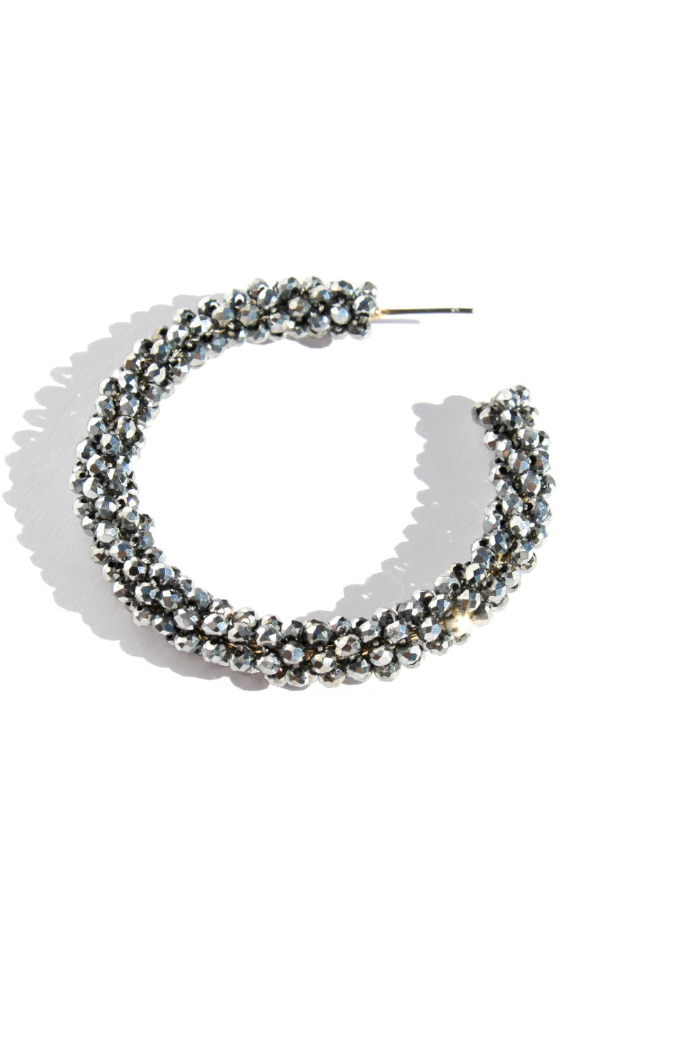 ZAZA SILVER HOOP EARRINGS