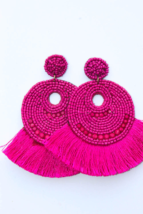 Acacia Fucshia Earrings