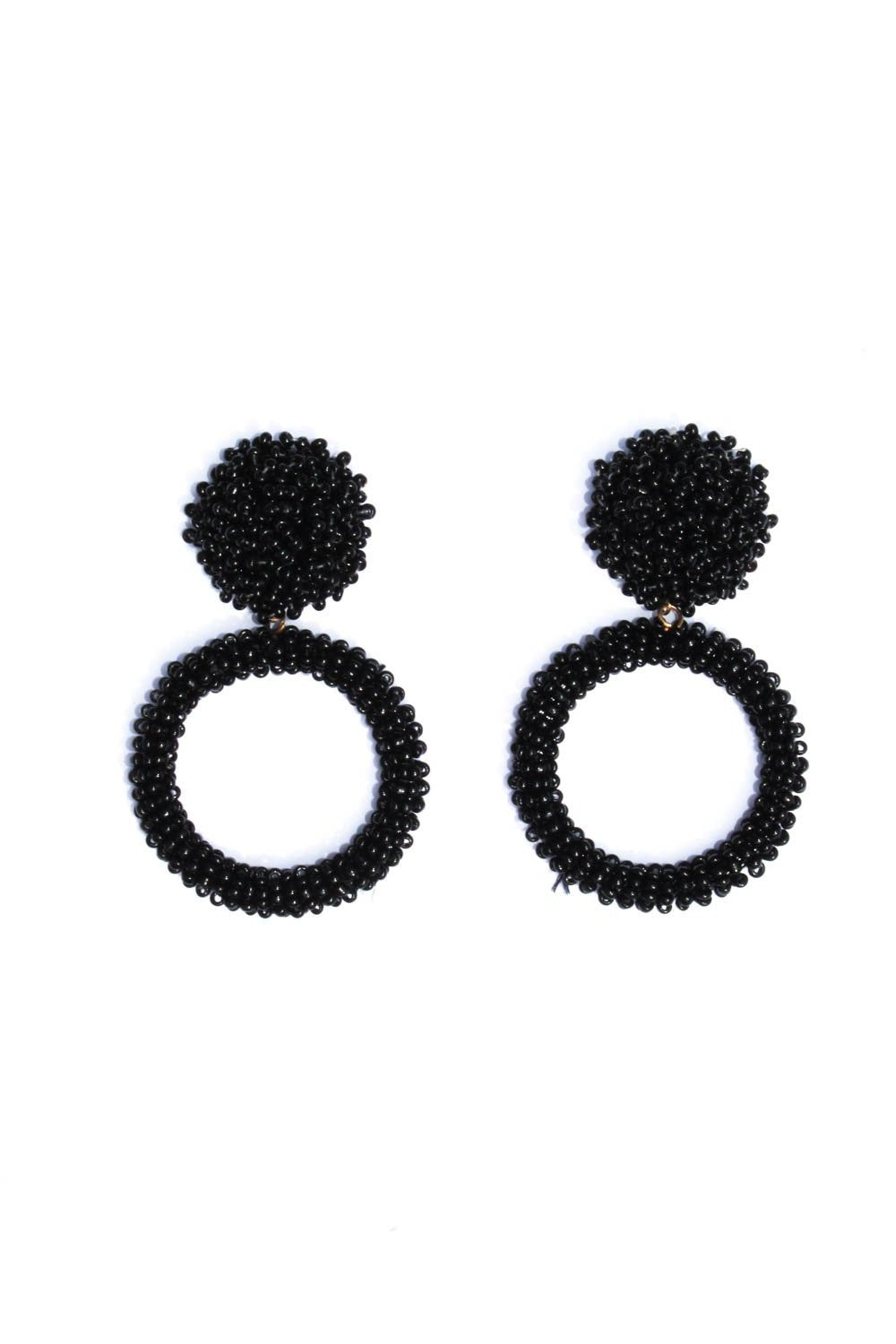 Adalee Black Earrings