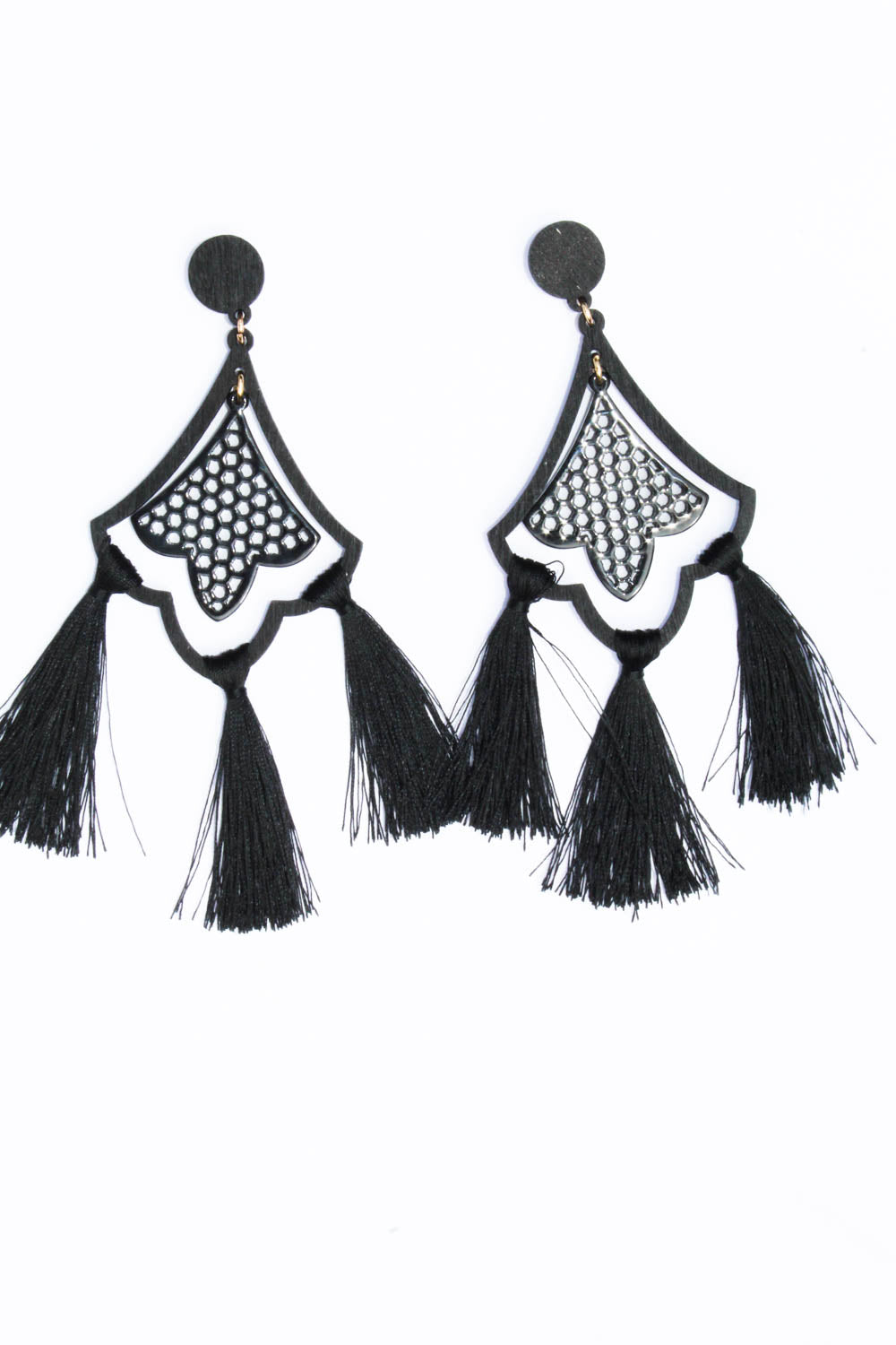 ALLURA BLACK EARRINGS