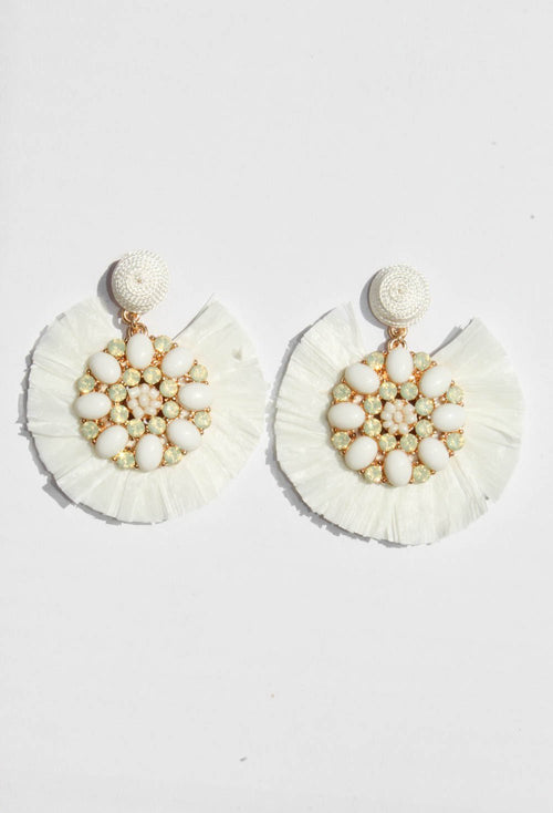 Arden White Earrings