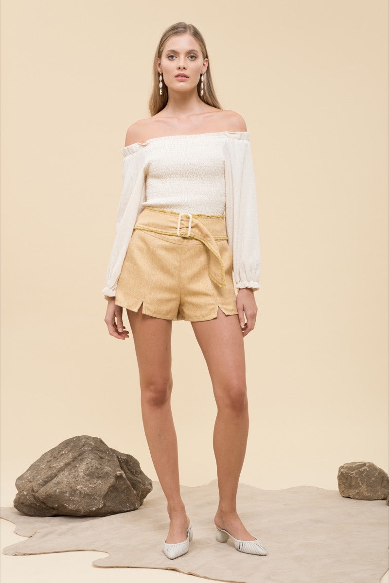 Adela Yellow Shorts