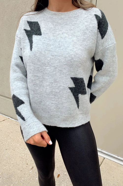 Tezza Lightning Bolt Sweater
