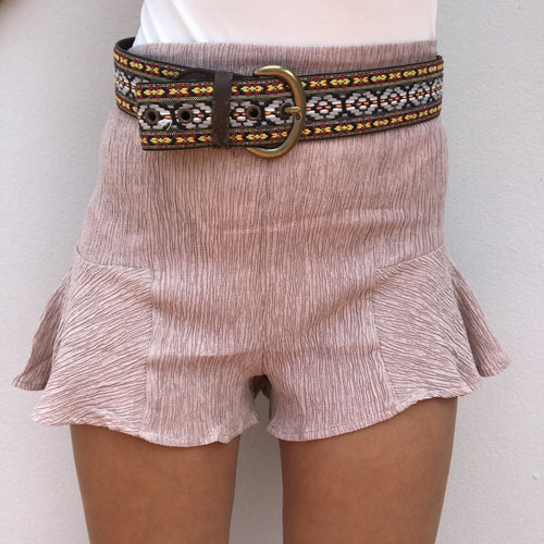 Bellatrix Flutter Shorts Mauve