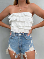 TILLY WHITE CROP TOP