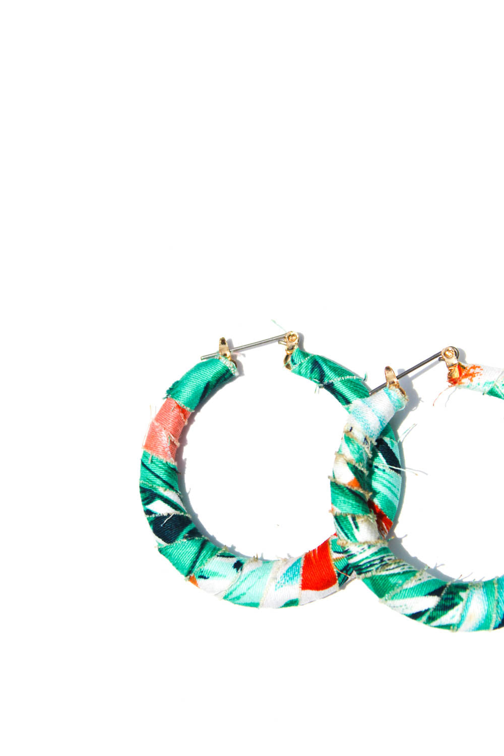 Joelle Blue Fabric Hoops