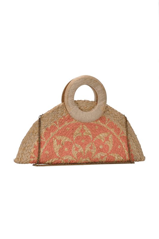 JOELLE SUMMER CLUTCH PEACH