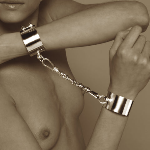 Sado-Chic Double Button Handcuff Kit