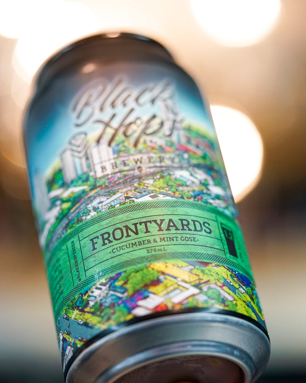 Black Hops 'Frontyards' Cucumber & Mint Gose 375mL