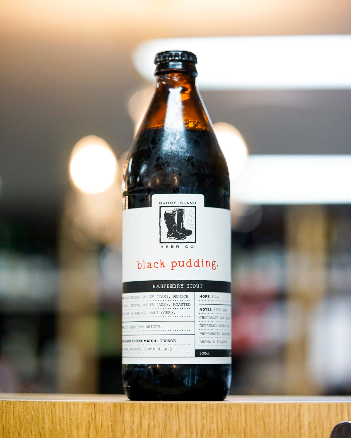 Bruny Island 'Black Pudding' Raspberry Stout 500mL