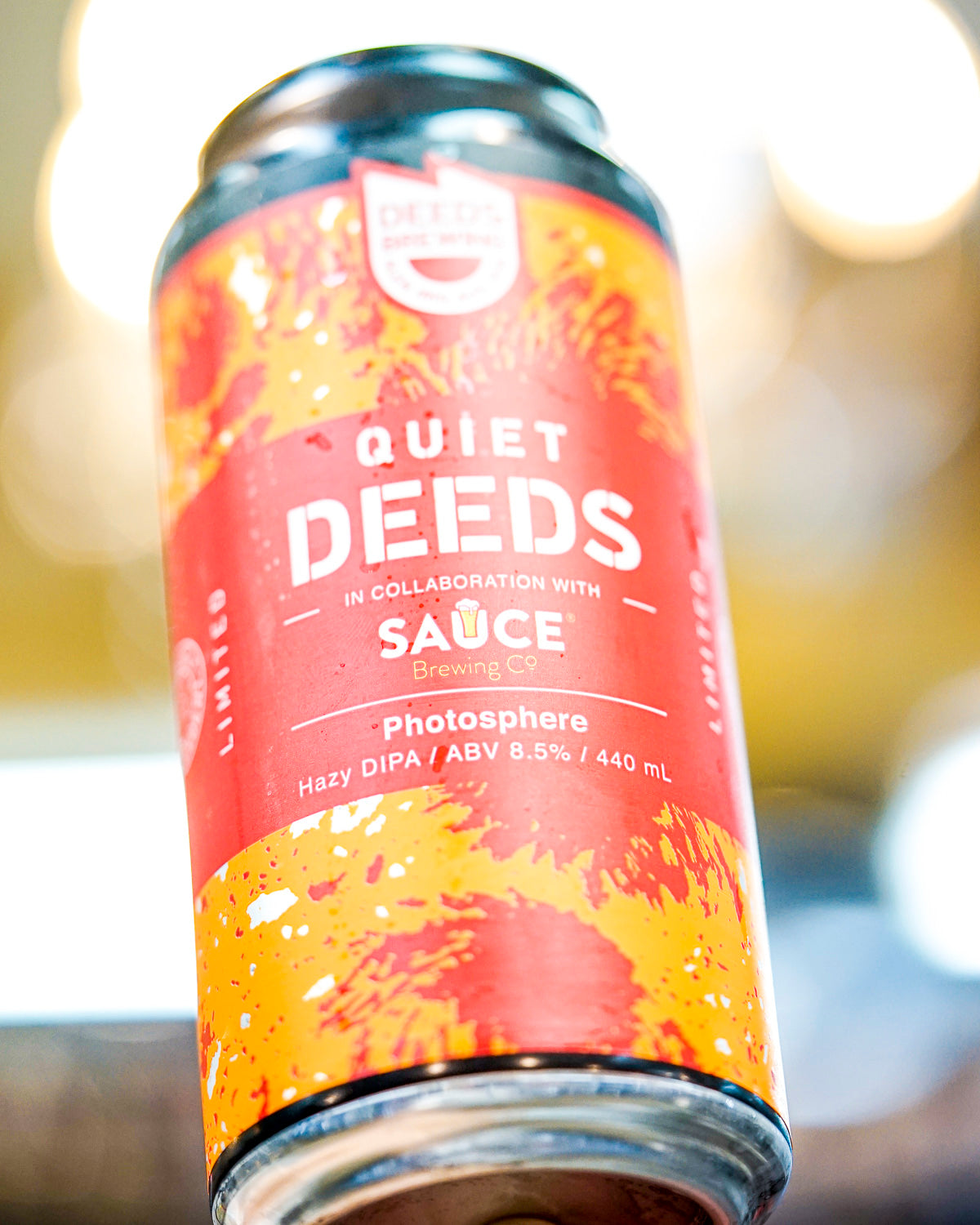 Quiet Deeds & Sauce Brewing 'Photosphere' Hazy DIPA 440mL