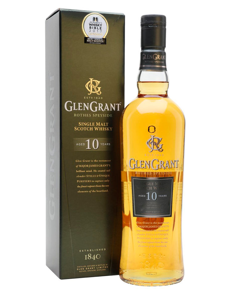 Glen Grant 10 Year Old Single Malt Whisky 700mL
