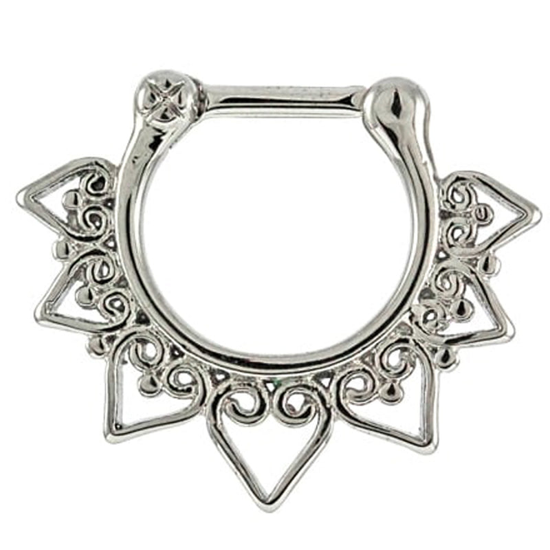 Hearts Mandala Septum Clicker