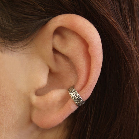 Celtic Ear Cuff - Sterling Silver