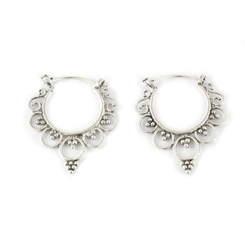 Ornate Earrings - Sterling Silver