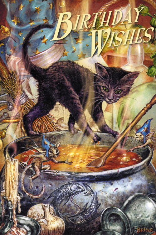 Cauldron Capers Witchy Greeting Card