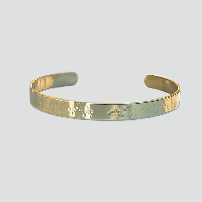 Star Burst Hammered Cuff