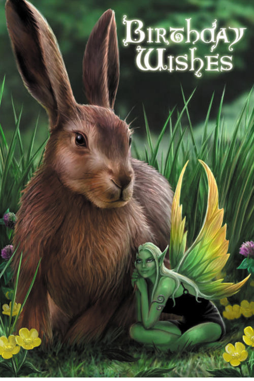 Hare & Sprite Nature Spirit Greeting Card