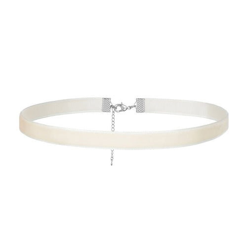 Velvet Off White Choker