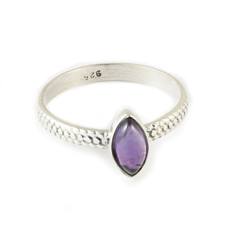 Luna Marquise Amethyst Ring - Sterling Silver