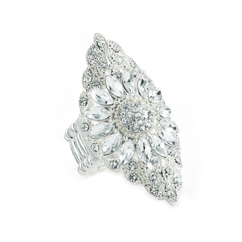 Andromeda Queen Crystal Shield Ring - Adjustable