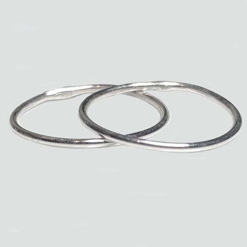 Sterling Silver Thin Ring Set