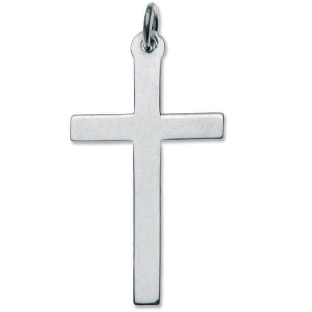 Latin Plain Cross Pendant -Sterling Silver