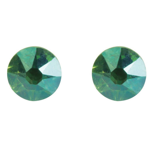 Cordelia Sea Green Studs - Sterling Silver