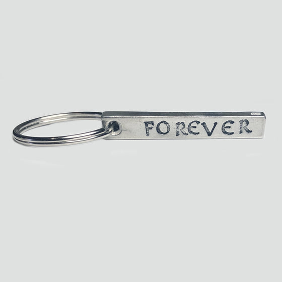 'Forever' Personalised Initials Bar Keyring