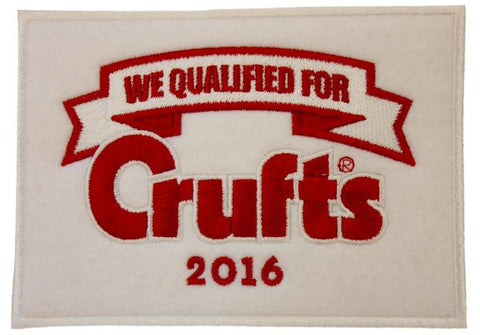 2016 We Qualified Sew on Badge - Crufts and Kennel Club Gifts