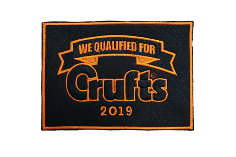 2019 We Qualified For Crufts Sew On Badge