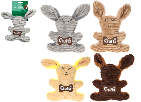 Crufts Squeaky Rabbit Toy