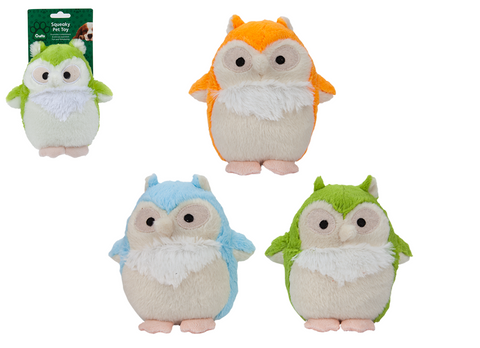 Crufts Squeaky Plush Owl Toy