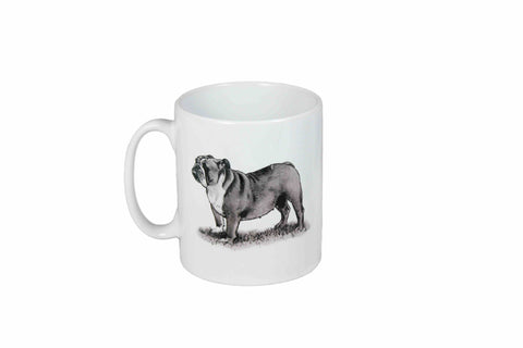 Bulldog cusion Mug - Crufts and Kennel Club Gifts