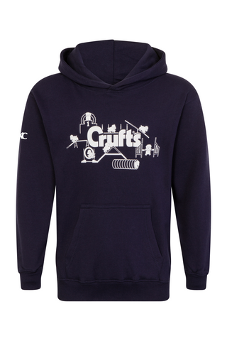 Kids Crufts & YKC Agility Course Hoodie - Navy Blue