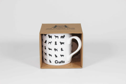 Bone China Crufts Silhouette Mug in Box - Crufts and Kennel Club Gifts