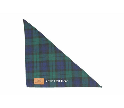 Personalised Blue Dog Tartan Bandanna