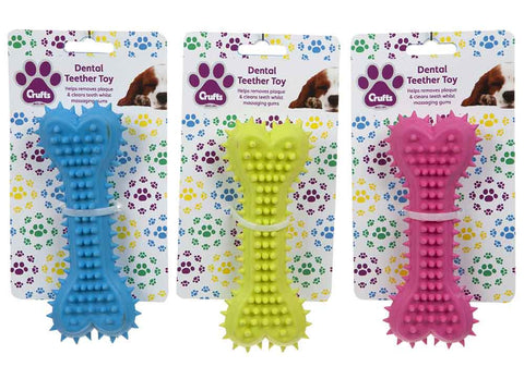 Crufts Bone Dental Teether Toy