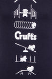 Kids Crufts & YKC Agility Course T-shirt - Navy Blue