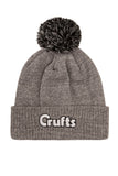 Crufts Bobble Hat - Heather Grey