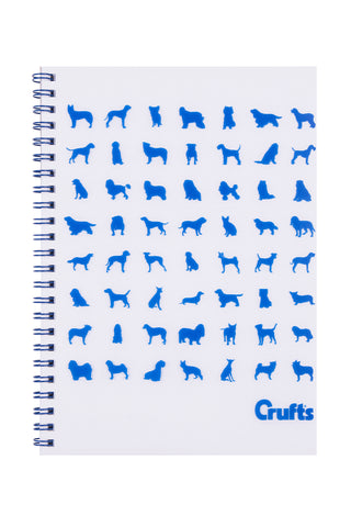 Crufts Blue Silhouette Notebook