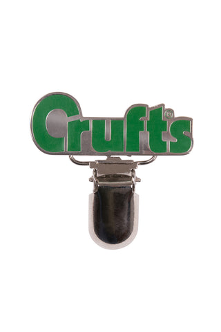 Crufts Number Badge Holder - Silver