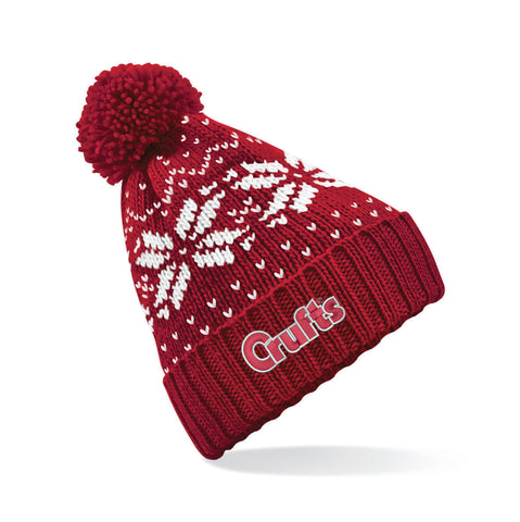Crufts Red SnowFlake Beanie