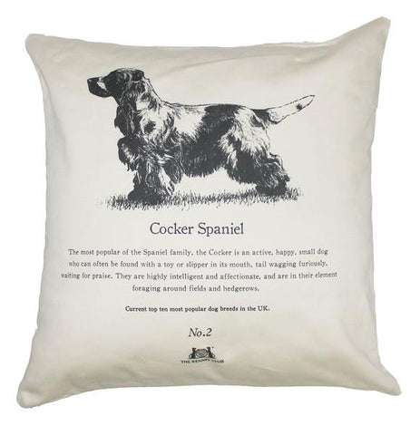Cocker Spaniel Cushion - Crufts and Kennel Club Gifts