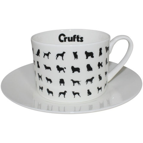 Bone China Tea Cup and Saucer - Crufts and Kennel Club Gifts