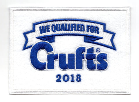 2018 We Qualified For Crufts Sew On Badge