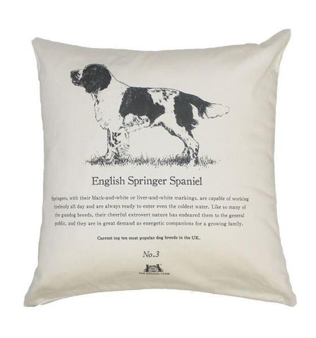 English Springer Spaniel Cushion - Crufts and Kennel Club Gifts