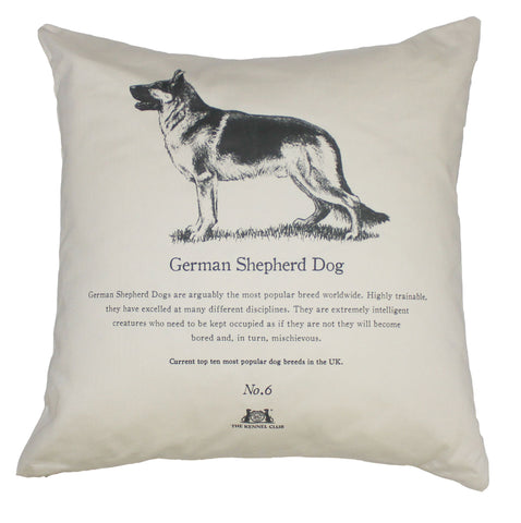 German Shepherd Dog Cushion - Crufts and Kennel Club Gifts